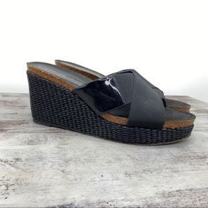 Donald J Pliner Bosna Patent leather Wedge 9.5